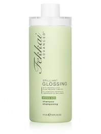 This shine release shampoo bathes hair with encapsulated spheres of olive oil all day long to keep locks lustrous.
