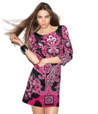 A paisley-printed confection, this jersey dress from INC adds pretty pop to your day or nighttime look!