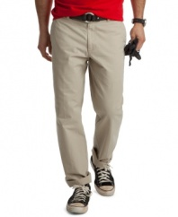 Your all-week all-star. With a straight leg and classic cut, these Izod pants will be your new favorite pair.