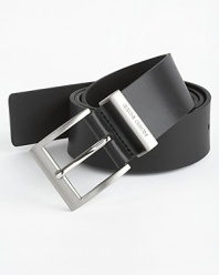 40 mm leather belt with buckle.