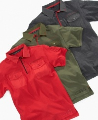 Put some prep in his step with one of these Sean John short-sleeved polos.