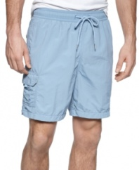 These cargo swim trunks from Nautica are the perfect beach basic.