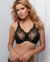 273b13937a02a Naomi   Nicole style this full-coverage minimizer bra with sheer mesh lace