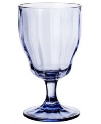 Stemware for every day, any occasion, the Farmhouse Touch goblet features a classic Villeroy & Boch design with a fluted bowl, elegant stem and tapered silhouette, all in cool blue crystal.