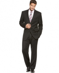 A sleek, dark suit is the one staple of a man's wardrobe that will always be in style.