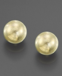 The perfect earrings for a little one: 14k gold balls make an adorable accessory.