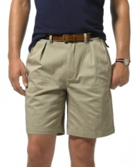 Essential, classic-fitting short in durable soft cotton twill.