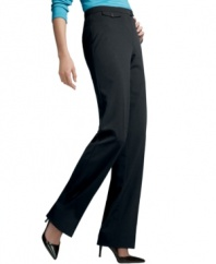 A sleek, sophisticated pant with a flattering, slimming silhouette from JM Collection.