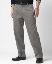 These khaki flat-front pants from Dockers prove comfort and professional polish can coexist.  If you loved the popular Original Khaki, the Classic Fit is your new update!