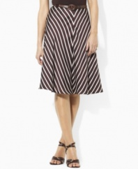 Crafted in flowing striped georgette, this Lauren by Ralph Lauren skirt creates romantic movement and a chic silhouette.