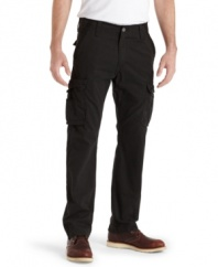 Break up your rotation of blues with these chill black cargo pants from Levi's.