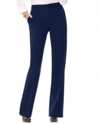 Jones New York's petite straight leg pants are essential for a polished work look.