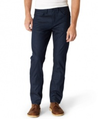 Go dark. Comfort and style combine for a dynamic downtown look in these 513 slim fit jeans from Levi's.