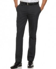 Punctuate your look with these modern dress pants from Marc Ecko Cut & Sew.
