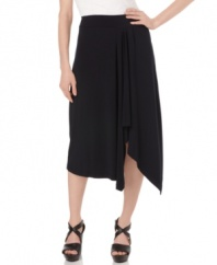 A major statement skirt with delicate draping, from MICHAEL Michael Kors. Try it with everything from sandals to ankle booties for an edgier look!