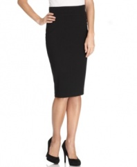 A timeless essential in every woman's wardrobe, the T Tahari pencil skirt is a designed for a sleek fit.