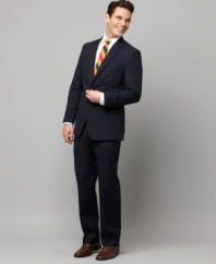 Toss it on, look great -- it's that simple. With a trim fit, this Tommy Hilfiger suit jacket does all the work for you.