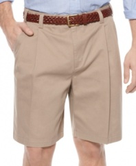 Find your comfort zone in these extender-waist shorts from Geoffrey Beene.