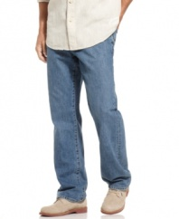 For the guy who likes his denim in a classic cut and always blue, these Tommy Bahama jeans fit the bill.