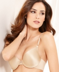 9d5bc0c5a9313 This sensible and silky t-shirt bra by Maidenform fits