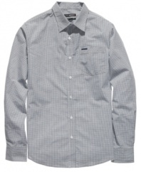 Check yourself in the cool mini-patterned style of this shirt from Ecko Unltd.