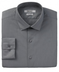 Make any career moves you want. With a slim, comfortable fit, this DKNY shirt will go where you do.