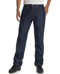 Complement your casual wardrobe with this tough and rugged straight leg jean from Levi's.