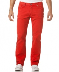 Add some pop to your weekend wardrobe with these colored jeans from Calvin Klein.