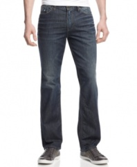 With a slim, straight fit, these jeans from Guess will be your new style standard for the weekend.