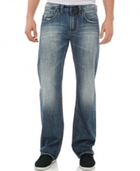 Straight ahead. Take the easy path to comfort and style with these jeans from Buffalo David Bitton.