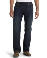 Don't get cooped up in a pair of skinny jeans. These relaxed fit denim from Levi's are weekend ready.