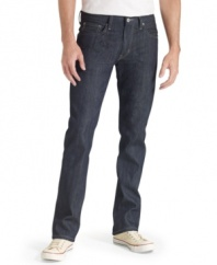 Lose a few inches. These slim-fit jeans from Levi's set your style on the straight and narrow.