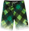 Hurley Boys 2-7 Connect Embroidered Logo Boardshort, Vivid Green, 3T