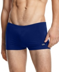 These shorts have a shorter European-inspired fit to maximize your tan.