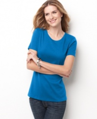 This Everyday Value short-sleeved petite tee is such a great basic, you'll want one in every color!