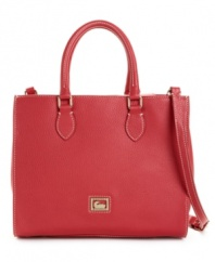 Dooney & Bourke's smart Janine purse sports a beautiful, boxy silhouette.