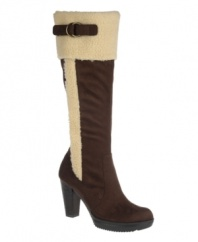 Cozy chic defines Naturalizer's Trinity boots, thanks to their rustically stylish faux fur trim and buckle hardware detailing. A round-toe silhouette and relatively low heel make them a practical, comfortable choice.