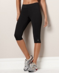 Enhance your exercise with these form-fitting and moisture-wicking Absolute Workout tights by Champion. Four-way stretch provides maximum ease of movement. Style #8240