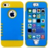 myLife (TM) Sky Blue + Yellow Shield 3 Layer (Hybrid Flex Gel) Grip Case for New Apple iPhone 5C Touch Phone (External 2 Piece Full Body Defender Armor Rubberized Shell + Internal Gel Fit Silicone Flex Protector + Lifetime Waranty + Sealed Inside myLife A