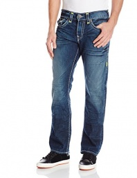 True Religion Men's Ricky Relaxed Fit Straight Leg Jean In Day Shadows
