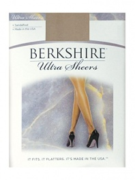 Berkshire Women's Ultra Sheer Non-Control Top Pantyhose - Sandalfoot, Nude, 1